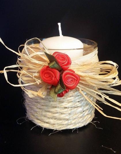 Küünlaalus punane roos ehtel 12.80