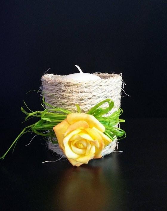 Küünlaalus kollane roos 12,80 eur
